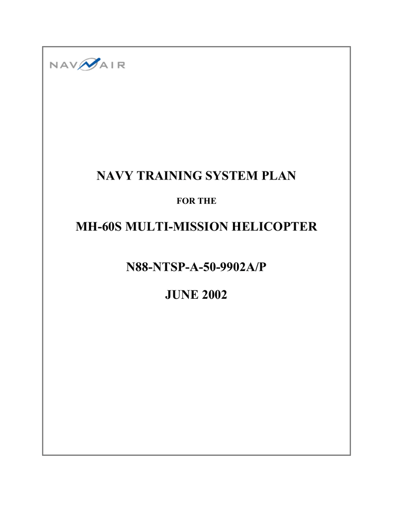 navy training system plan mh 60s multi mission helicopter n88 ntsp navy training system plan mh 60s multi mission helicopter n88 ntsp a 50 9902a p