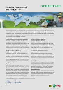 Schaeffler Environmental and Safety Policy