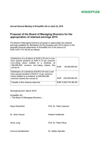 Proposal of the Board of Managing Directors for the
