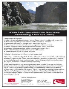 Graduate Student Opportunities in Fluvial Geomorphology