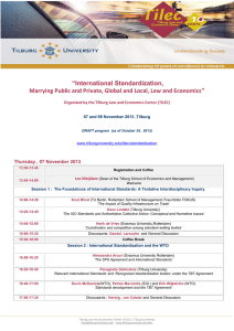 """International Standardization,  Thursday , 07 November 2013"