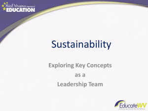 Sustainability Exploring Key Concepts as a Leadership Team