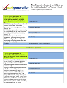 Next Generation Standards and Objectives Deisolating the Objectives Grade 4