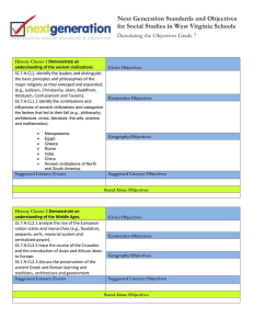 Next Generation Standards and Objectives Deisolating the Objectives Grade 7