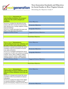 Next Generation Standards and Objectives Deisolating the Objectives Grade 9