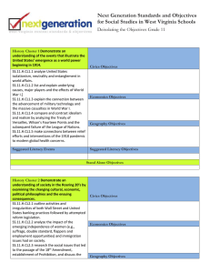Next Generation Standards and Objectives Deisolating the Objectives Grade 11