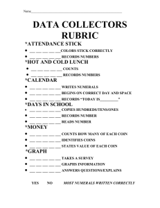 DATA COLLECTORS RUBRIC *ATTENDANCE STICK