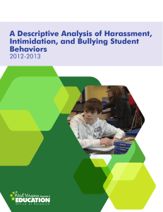 A Descriptive Analysis of Harassment, Intimidation, and Bullying Student Behaviors 2012-2013