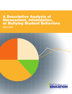 A Descriptive Analysis of Harassment, Intimidation, or Bullying Student Behaviors 2013–2014