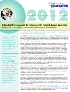 2012 Extended Professional Development in Project-Based Learning