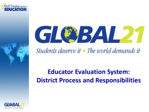 Educator Evaluation System: District Process and Responsibilities