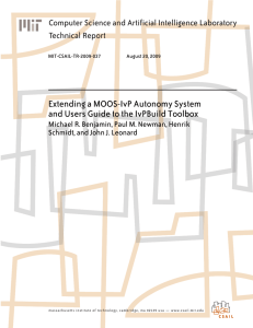 Extending a MOOS-IvP Autonomy System Computer Science and Artificial Intelligence Laboratory
