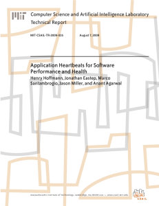 Application Heartbeats for Software Performance and Health Technical Report