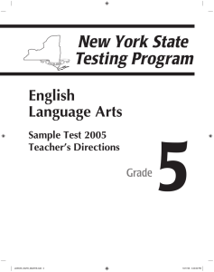 5 English Language Arts Grade