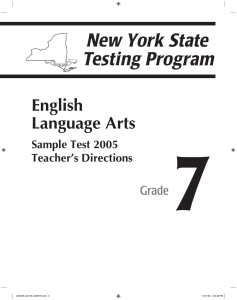7 English Language Arts Grade