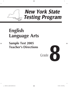 8 English Language Arts Grade