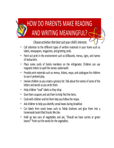 HOW DO PARENTS MAKE READING AND WRITING MEANINGFUL?