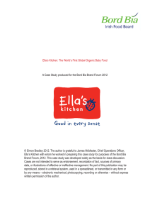 Ella's Kitchen: The World's First Global Organic Baby Food