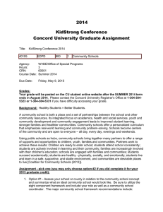 2014 KidStrong Conference Concord University Graduate Assignment