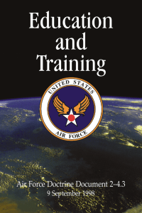 Education and Training Air Force Doctrine Document 2–4.3