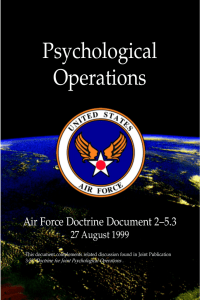 Psychological Operations Air Force Doctrine Document 2–5.3 27 August 1999