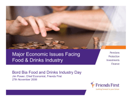Major Economic Issues Facing Food & Drinks Industry