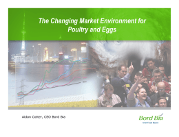 The Changing Market Environment for Poultry and Eggs