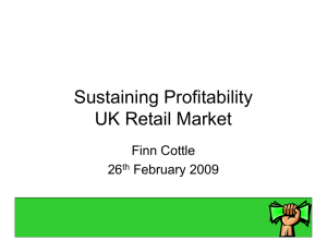 Sustaining Profitability UK Retail Market Finn Cottle 26