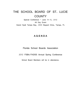 THE SCHOOL BOARD OF ST. LUCIE COUNTY