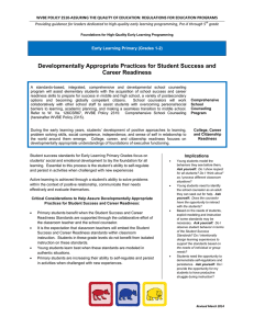 WVBE POLICY 2510-ASSURING THE QUALITY OF EDUCATION: REGULATIONS FOR EDUCATION... Providing guidance for leaders dedicated to high-quality early learning programming,... grade