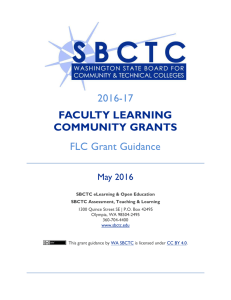 2016-17 FLC Grant Guidance FACULTY LEARNING