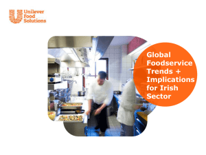 Global Foodservice Trends + Implications