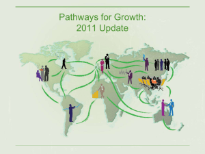 Pathways for Growth: 2011 Update