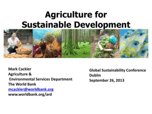 Agriculture for Sustainable Development