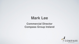 Mark Lee Commercial Director Compass Group Ireland
