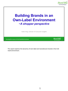 This report explores the dynamics of own label and manufacturer... retail environment.