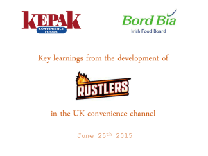 Key learnings from the development of  in the UK convenience channel
