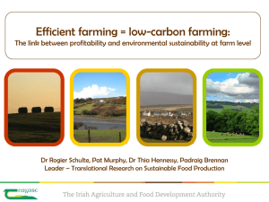 Efficient farming = low-carbon farming:
