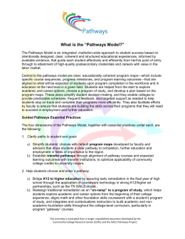 "What is the ""Pathways Model?"""