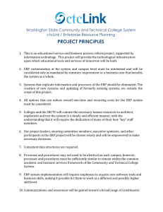 PROJECT PRINCIPLES Washington State Community and Technical College System