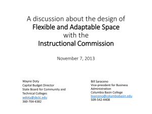 A discussion about the design of Flexible and Adaptable Space with the