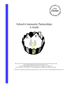 School-Community Partnerships: A Guide