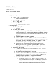 PPMS Meeting Minutes February 11, 2015 Renton Technical College - Renton