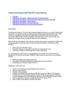 Understanding Staff Month Calculations