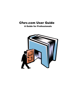 Cfwv.com User Guide A Guide for Professionals