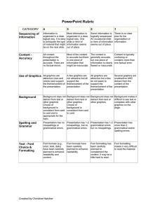 PowerPoint Rubric  CATEGORY 4