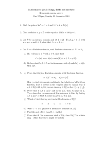 Mathematics 2215: Rings, fields and modules Homework exercise sheet 4