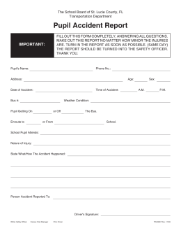 Pupil Accident Report