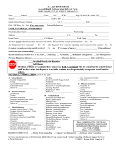 St. Lucie Public Schools Mental Health Collaborative Referral Form