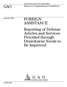 GAO FOREIGN ASSISTANCE Reporting of Defense